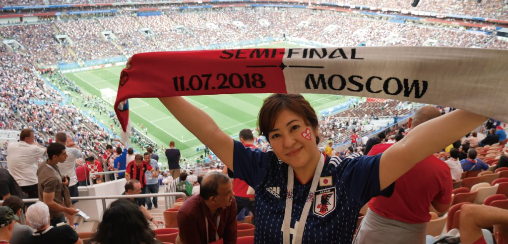 サッカーW杯ロシア大会で準決勝を観戦しました!