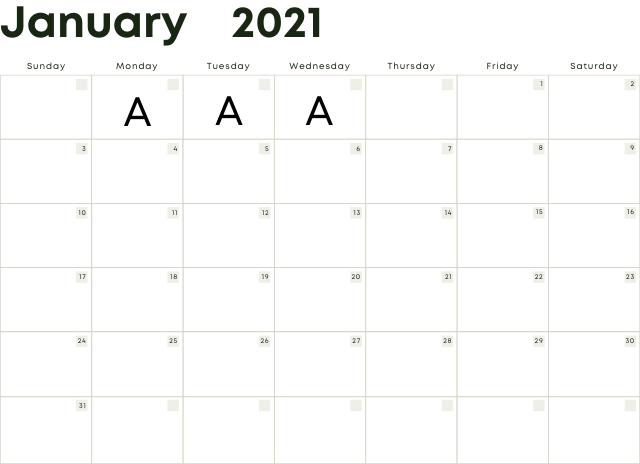 カレンダー(文字:mont)